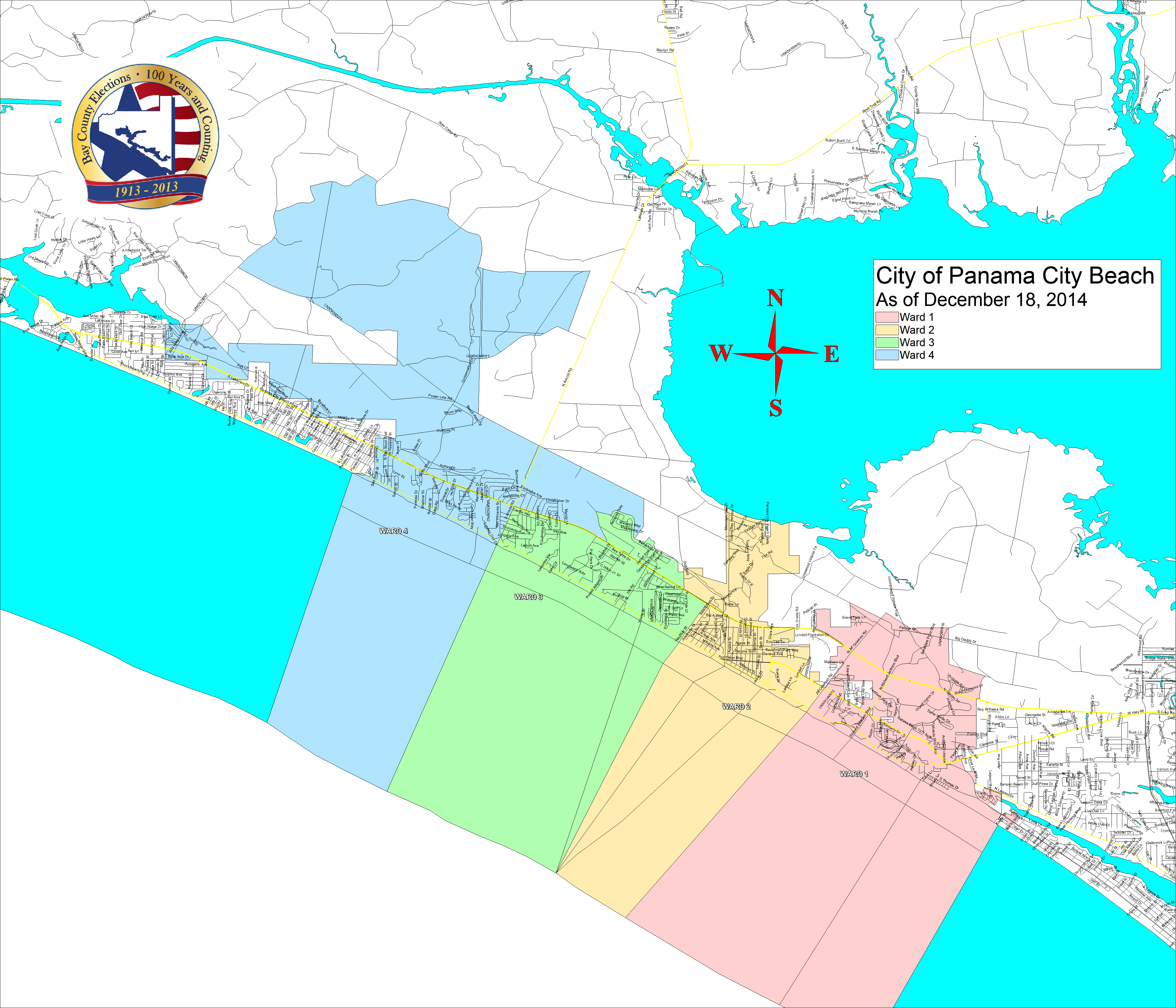 Map Of Lynn Haven Florida.Bay County Supervisor Of Elections Voter Info Maps And Boundaries